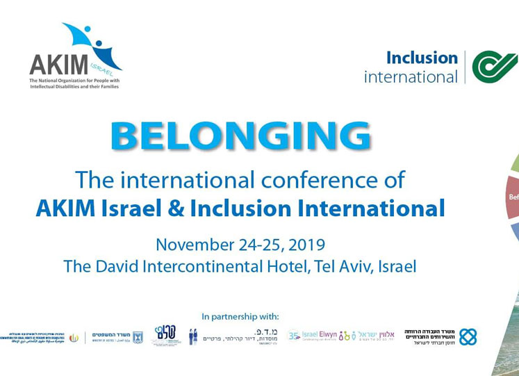 Inclusion International: la conferenza a novembre in Israele