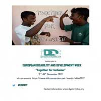 European Disability and Development Week